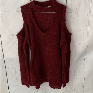 Cold Shoulder Collar Sweater